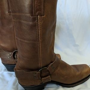 Frye Harness Golden Brown Motorcycle Boot